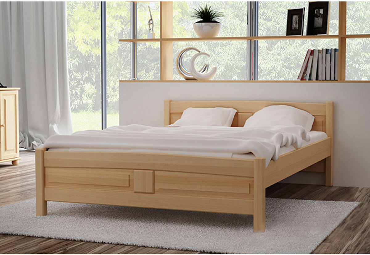 Expedo.sk Vyvýšená posteľ ANGEL + matrac + rošt, 160x200 cm, jelša-lak, doprava len 9 Euro