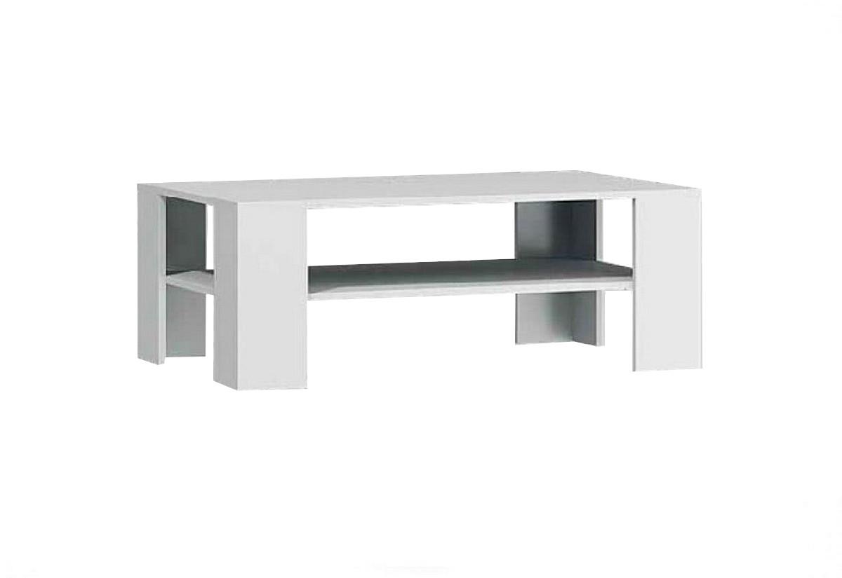 Expedo.sk Konferenčný stolík PUERTO 103, 103x38x63 cm, biela farba, doprava len 9 Euro