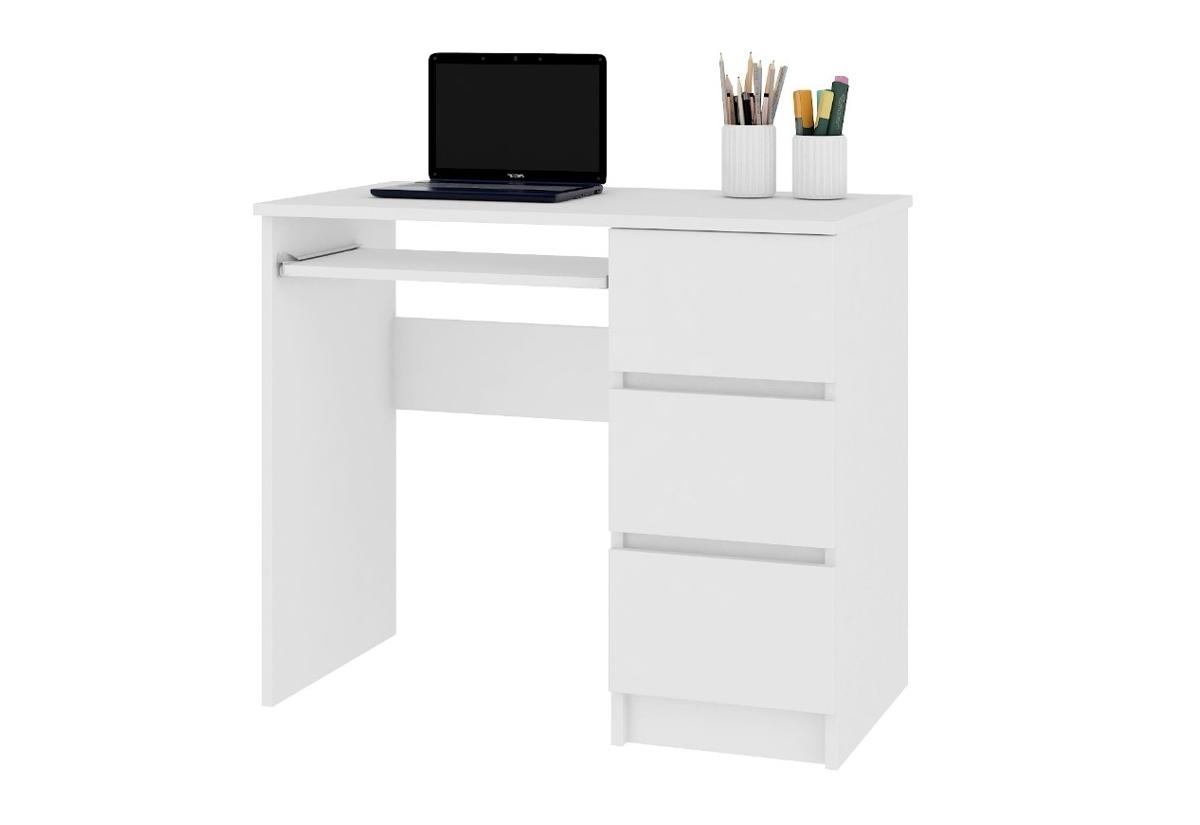 Expedo.sk Psací stůl KORDA A-6, 90x77x50, bílá, pravá, doprava len 9 Euro