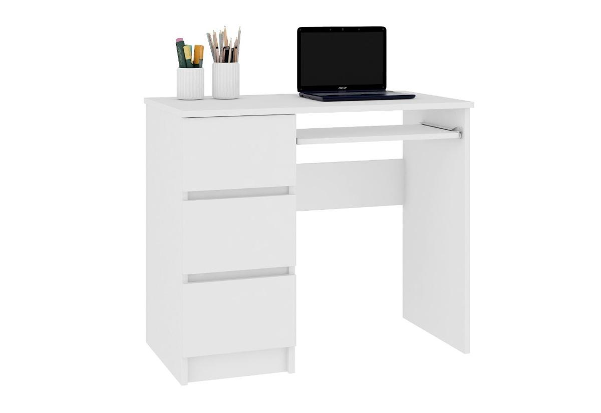 Expedo.sk Psací stůl KORDA A-6, 90x77x50, bílá,levá, doprava len 9 Euro