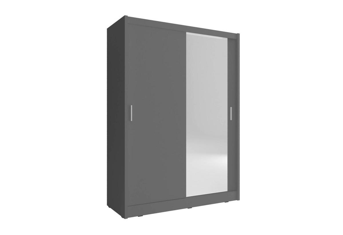 Expedo.sk Šatníková skriňa NANA, 150x200x60 cm, zrkadlo 1 ks, grafit