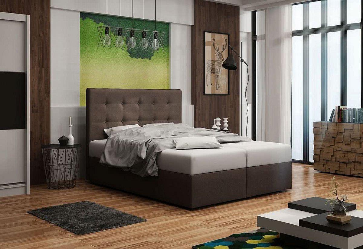 Expedo.sk Čalúnená posteľ DOUBLE 1, cosmic 800, 160x200 cm, doprava len 9 Euro