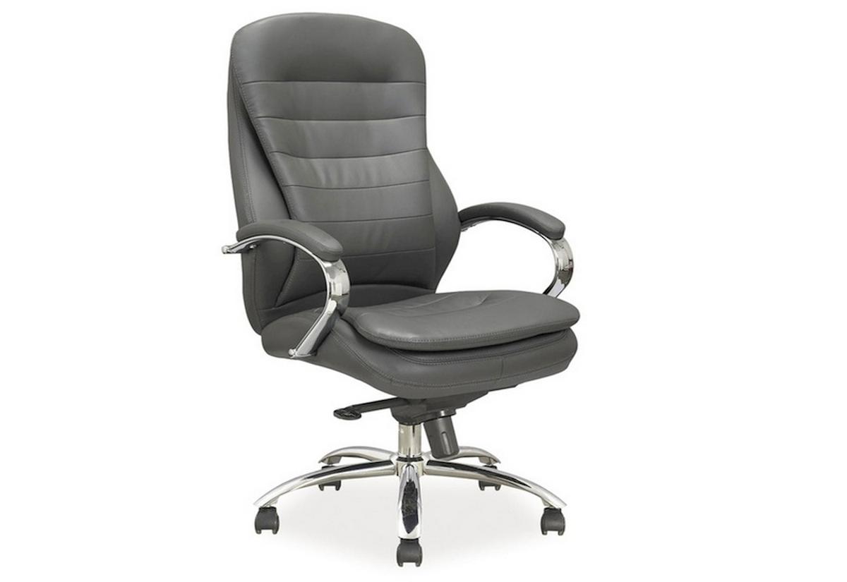 Kancelárska stolička WORD, 116-122x65x53x51-57, sivá