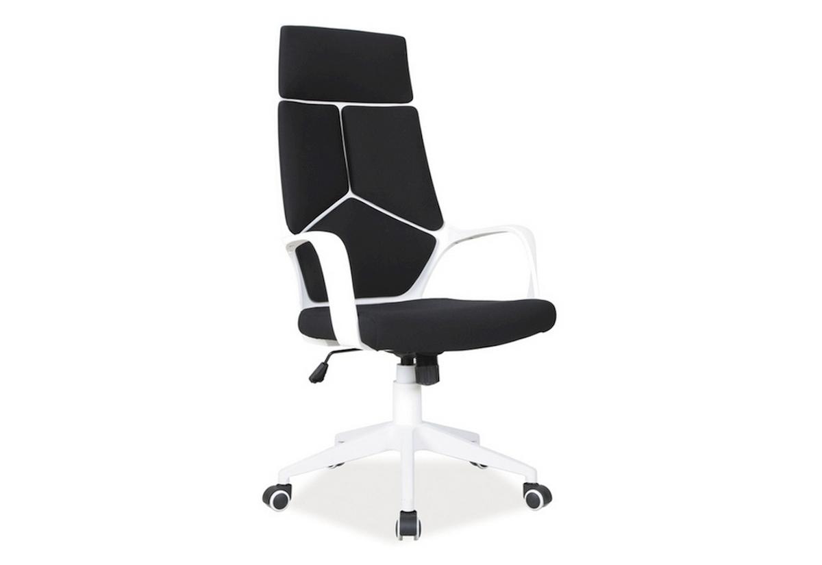 Kancelárska stolička BUY, 114-124x63x46x47-57, čierna
