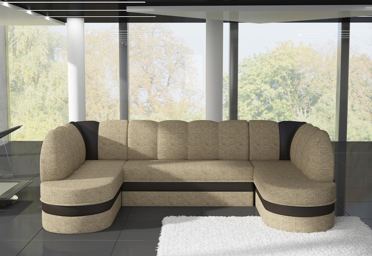 Expedo.sk Rozkládací sedačka do U PIERRE, 318x88x180, berlin 03/soft 66, doprava len 9 Euro
