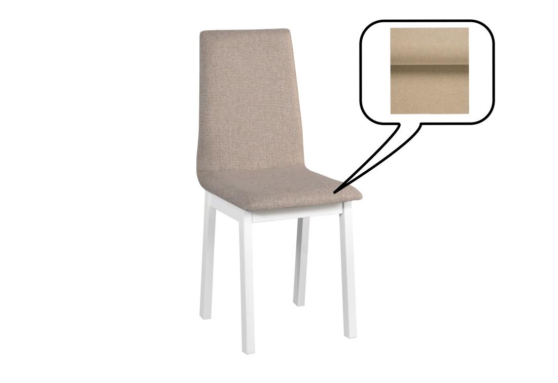 Expedo.sk Jídelní židle KAPET 5, 90x40x43 cm, bílá/látka 14, doprava len 9 Euro