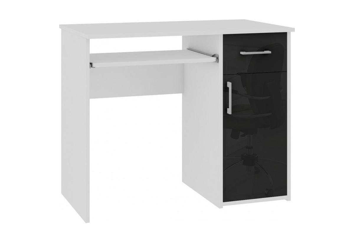 Expedo.sk Psací stůl SPIN, 90x74x50, bílá/černý lesk, doprava len 9 Euro
