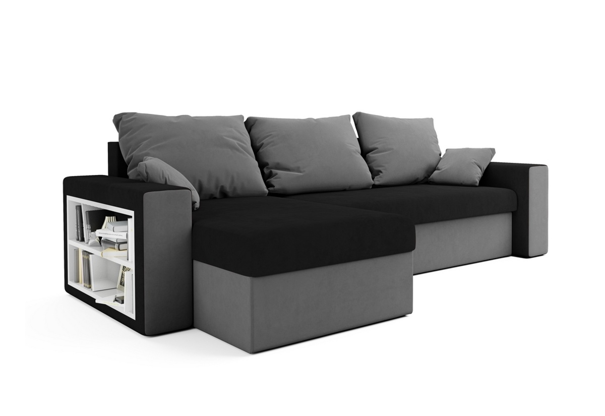 Expedo.sk Rohová rozkládací sedačka SEATTLE, 246x66x145, mikrofáze 15/27, doprava len 9 Euro