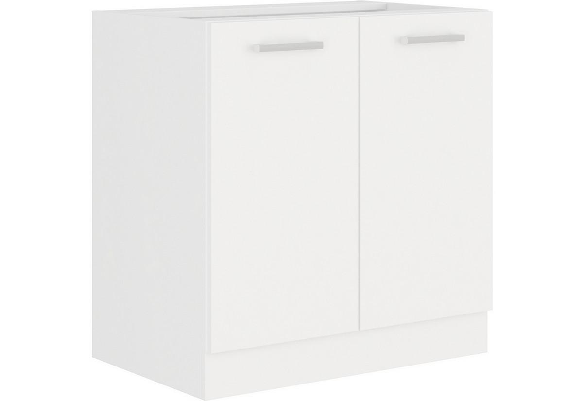 Expedo.sk Kuchyňská skříňka dolní dvoudveřová s pracovní deskou ALBERTA 80D 2F, 80x82x52, bílá, doprava len 9 Euro