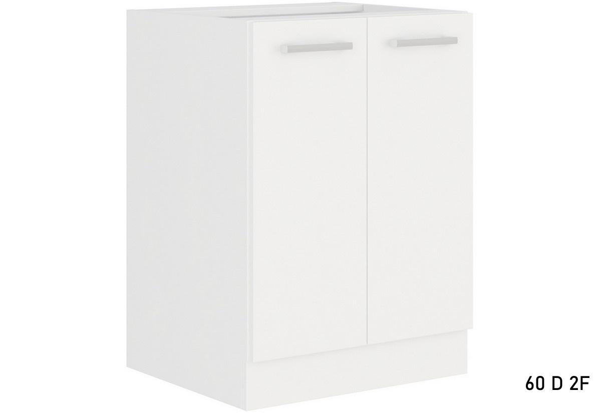 Expedo.sk Kuchyňská skříňka dolní dvoudveřová ALBERTA 60D 2F BB, 60x82x52, bílá, doprava len 9 Euro