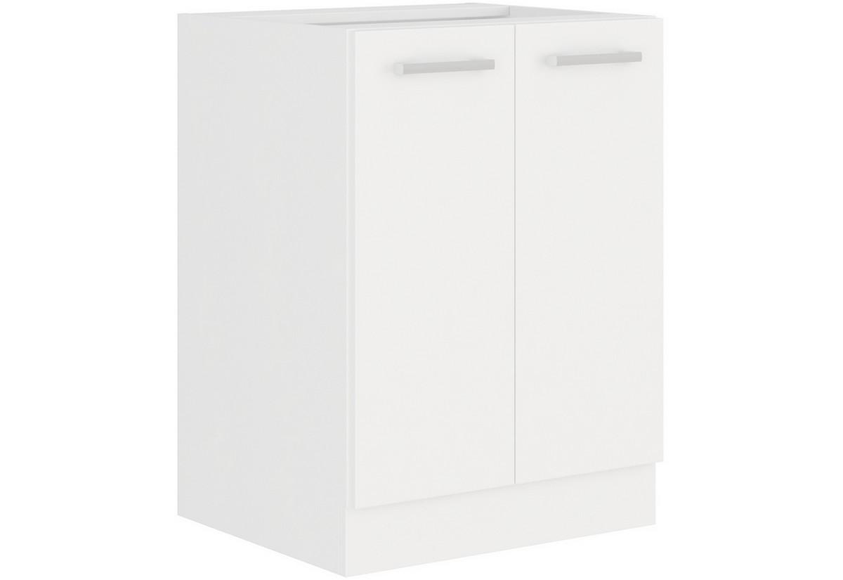 Expedo.sk Kuchyňská skříňka dolní dvoudveřová s pracovní deskou ALBERTA 60D 2F, 60x82x52, bílá, doprava len 9 Euro