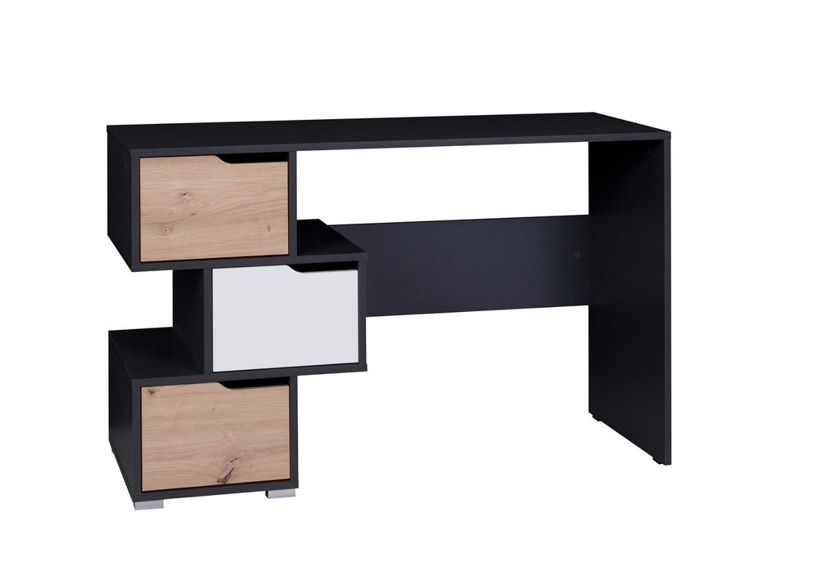Expedo.sk Psací stůl DITA, 120x75x50, grafit/bílá/dub artisan, doprava len 9 Euro