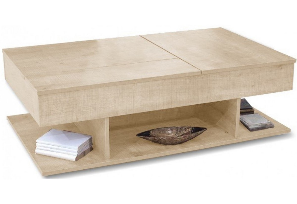 Rozkládací konferenčný stolík ZALTA, 116x40x70, sonoma