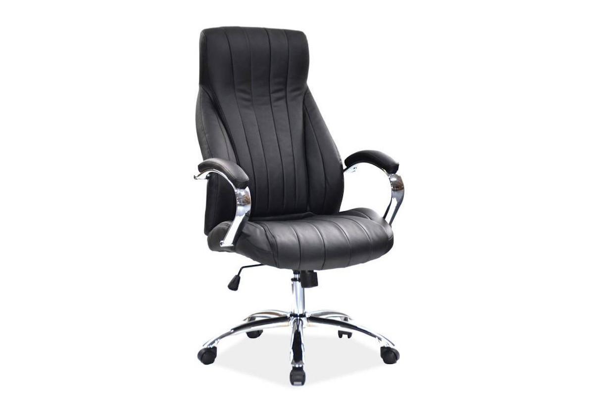 Kancelárska stolička EROS Q-347, 65x115x54, čierna